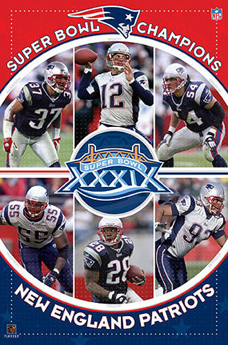 New England Patriots Super Bowl Champions XXXIX (2005) Commemorative Poster - Costacos