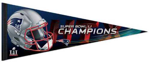 New England Patriots Super Bowl LI (2017) Champs Premium Felt Collector's Pennant