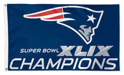New England Patriots Super Bowl XLIX Champions (2015) HUGE 3'x5' Flag - Wincraft