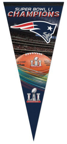New England Patriots Super Bowl LI (2017) Champs Premium Felt EXTRA-LARGE Pennant
