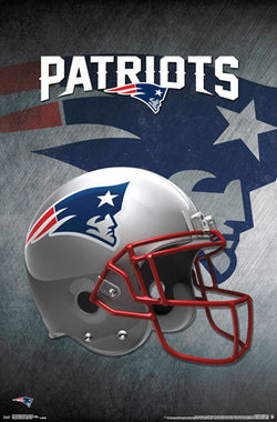 New England Patriots Official NFL Football Team Helmet Logo Poster - Trends International
