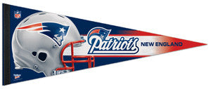 New England Patriots NFL Football Official Premium Felt Pennant - Wincraft Inc.