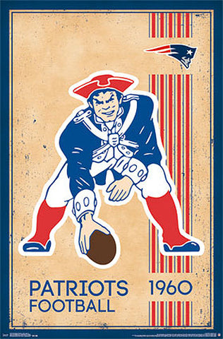 Boston Patriots NFL Heritage Series Retro Logo c.1960 Official Team Poster - Costacos Sports