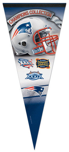 New England Patriots 3-Time Super Bowl Champions EXTRA-LARGE Premium Pennant