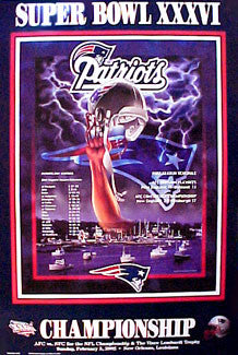 "New England Patriots ""Super Season 2001"" Super Bowl XXXVI Poster - Action Images"