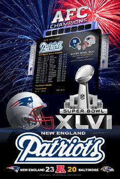 "New England Patriots ""Super Season XLVI"" - Action Images 2012"