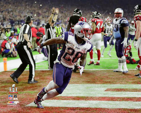 James White Super Bowl LI Game-Winning TD Patriots Premium Poster - Photofile 16x20
