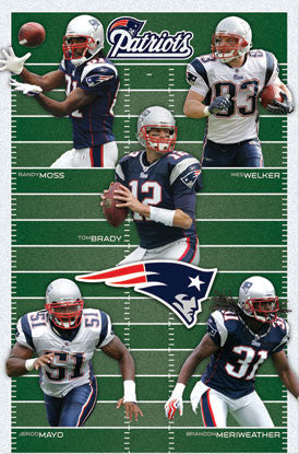 "New England Patriots ""Gridiron Five"" (2010) - Costacos Sports"