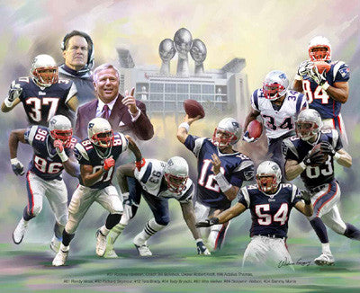 "New England Patriots ""Patriot Perfection"" by Wishum Gregory"