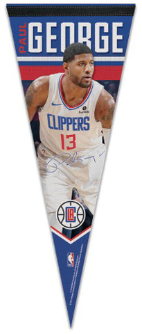 Paul George Los Angeles Clippers Signature-Series Premium Felt Collector's Pennant - Wincraft 2019