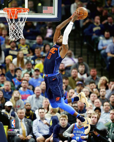 "Paul George ""Power Slam"" Oklahoma City Thunder Premium NBA Poster Print - Photofile 16x20"