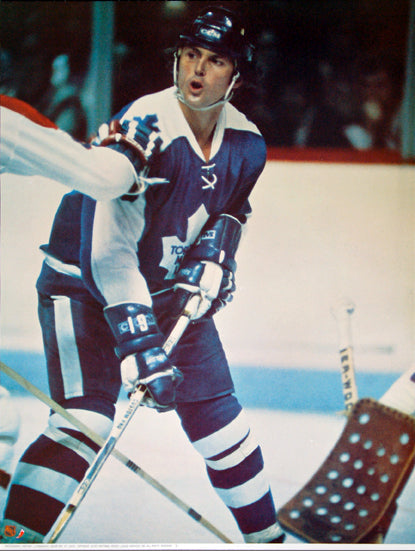 "Paul Henderson ""Action"" Toronto Maple Leafs NHL Hockey Poster - Sports Posters Inc 1973"