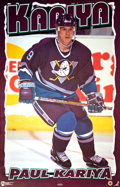 "Paul Kariya ""Legend"" Mighty Ducks of Anaheim NHL Hockey Poster - Norman James Corp. 1995"