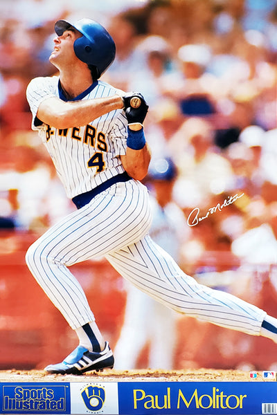 "Paul Molitor ""SI Classic"" Milwaukee Brewers MLB Action Poster - Marketcom/Sports Illustrated 1988"