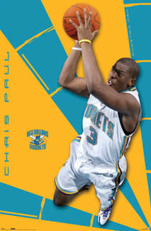 "Chris Paul ""Sensation"" New Orleans Hornets Poster - Costacos 2007"