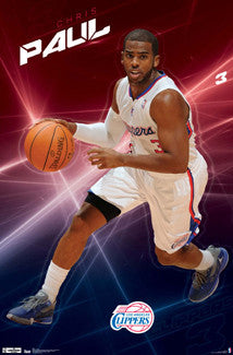 "Chris Paul ""Clipper Captain"" LA Clippers NBA Poster - Costacos 2012"