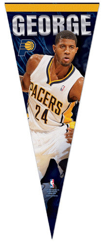"Paul George ""Action"" Indiana Pacers Basketball Premium Felt Collector's Pennant - Wincraft"