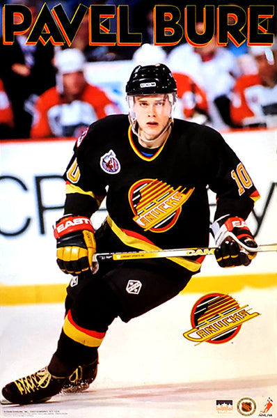 "Pavel Bure ""Rookie"" Vancouver Canucks Poster (1993) - Starline Inc."