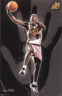 "Gary Payton ""Glove"" Seattle Supersonics Poster - Costacos 2000"