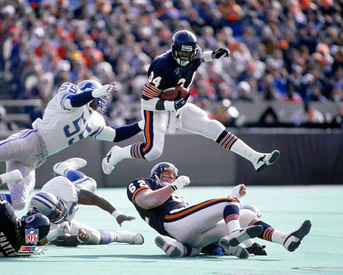 "Walter Payton ""Flight 34"" (c.1986) Chicago Bears Premium Poster Print - Photofile"