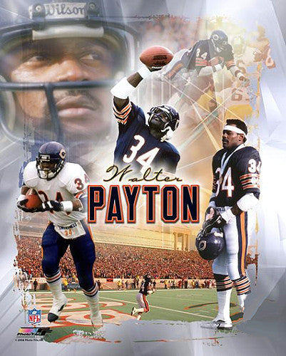 "Walter Payton ""Legend"" Chicago Bears Premium Poster Print - Photofile Inc."