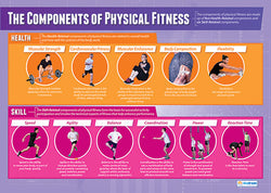 The Components of Physical Education Fitness Wall Chart Poster - PosterFit