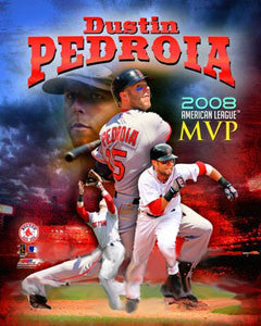 "Dustin Pedroia ""MVP 2008"" - Photofile 16x20"
