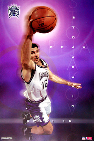 "Peja Stojakovic ""Sweet 16"" Sacramento Kings NBA Basketball Poster - Starline 2002"