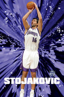 "Peja Stojakovic ""In the Zone"" Sacramento Kings Poster - Costacos 2005"