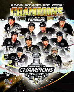 Pittsburgh Penguins 2009 Stanley Cup Champions 10-Player Commemorative Premium Poster - Photofile