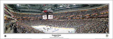 Pittsburgh Penguins Arena Historic Inaugural Game (2010) Panoramic Poster Print - Everlasting