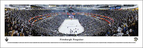 Pittsburgh Penguins Consol Energy Center 2013 Playoffs Panoramic Poster Print - Blakeway