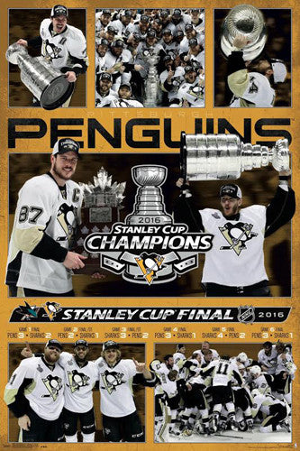 Pittsburgh Penguins 2016 Stanley Cup Champs CELEBRATION Commemorative Poster - Trends