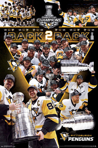 "Pittsburgh Penguins ""Celebration"" 2017 Stanley Cup Champions Commemorative Poster"