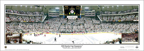 Pittsburgh Penguins 2009 Stanley Cup Champions Panoramic Poster Print - Everlasting Images