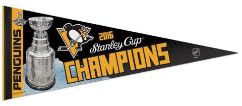 Pittsburgh Penguins 2016 Stanley Cup Champions Commemorative Premium Felt Pennant - Wincraft Inc.