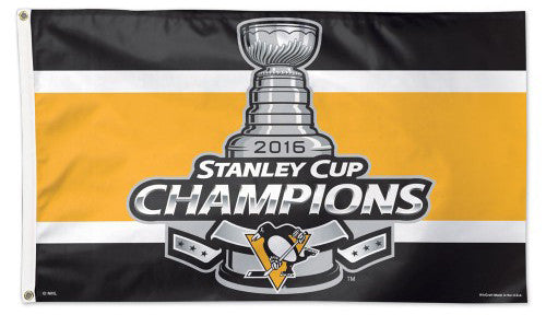 Pittsburgh Penguins 2016 NHL Stanley Cup Champs Deluxe 3'x5' HUGE Banner Flag -Wincraft