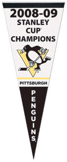 "Pittsburgh Penguins ""Banner Night"" (2009 Stanley Cup) Premium Felt Pennant"