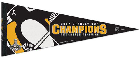 Pittsburgh Penguins 2017 Stanley Cup Champions Premium Felt Pennant - Wincraft