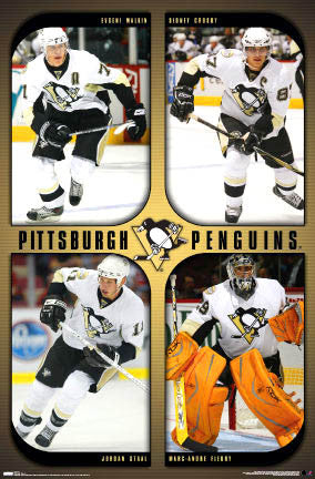 "Pittsburgh Penguins ""Superstars"" (2007-08) Poster - Costacos Sports"