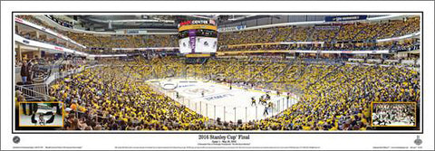 Pittsburgh Penguins Consol Energy Center 2016 Stanley Cup Game 1 Panoramic Poster Print