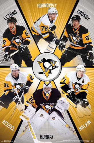 "Pittsburgh Penguins ""Six Stars"" 2016-17 Poster (Crosby, Murray, Kessel, Malkin, Letang, Hornqvist)"