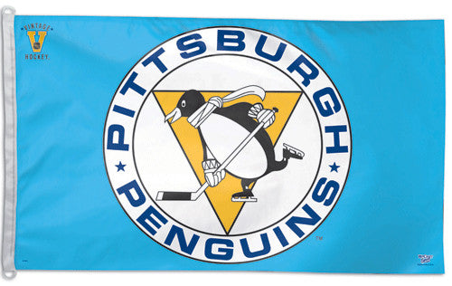 "Pittsburgh Penguins ""Vintage Blue"" Official NHL Hockey 3'x5' Flag - Wincraft Inc."