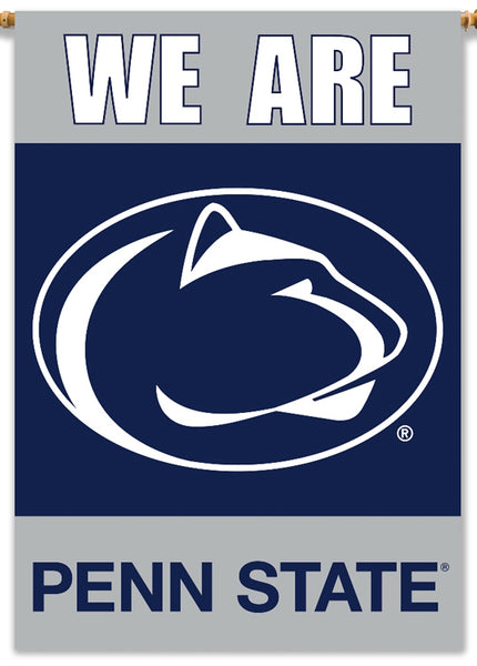 "Penn State Nittany Lions ""We Are"" 28x40 Premium NCAA Team Banner - BSI Products Inc"