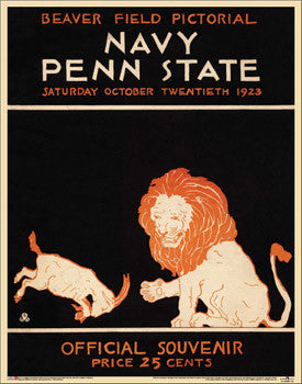 Penn State Football 1923 Vintage Program Cover Poster Print - Asgard Press