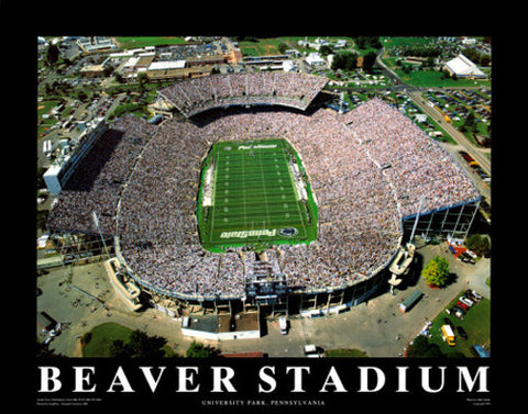 "Penn State Football Beaver Stadium ""From Above"" Premium Poster - Aerial Views Inc."