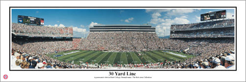 "Penn State Nittany Lions ""30 Yard Line"" Beaver Stadium Panoramic Poster Print - Everlasting Images"