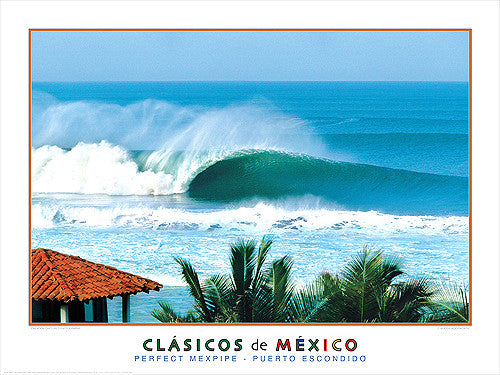 "Surfing ""Perfect Mexpipe"" (Puerto Escondido) Poster Print - Creation Captured"