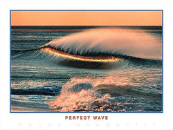 "Surfing ""Perfect Wave"" Ocean Sunset Poster Print - Creation Captured"