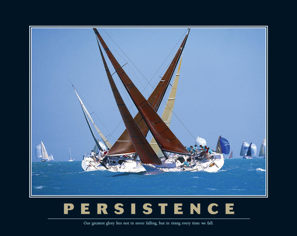 "Sailing ""Persistence"" Inspirational Motivational Poster Print - Eurographics"